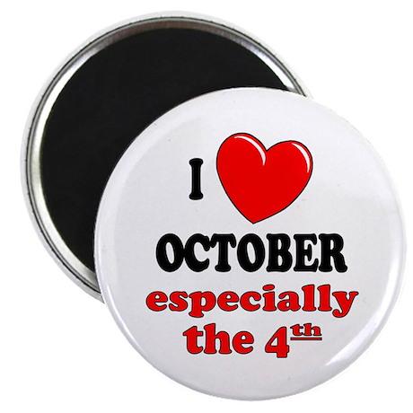 "October 4th 2.25"" Magnet (10 pack)"