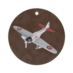 Vintage WWII Aircraft Art Ornament (Round)