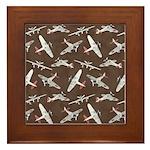 Vintage WWII Aircraft Art Framed Tile