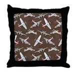 Vintage WWII Aircraft Art Throw Pillow