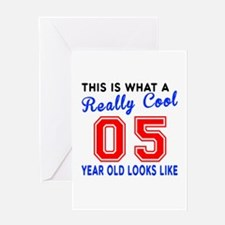 Really Cool 05 Birthday Designs Greeting Card