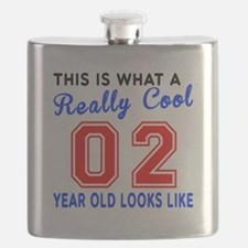 Really Cool 02 Birthday Designs Flask
