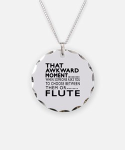Flute Awkward Moment Designs Necklace