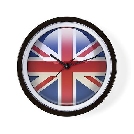 UK Flag Jewel Wall Clock