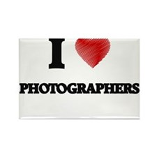I love Photographers (Heart made from word Magnets