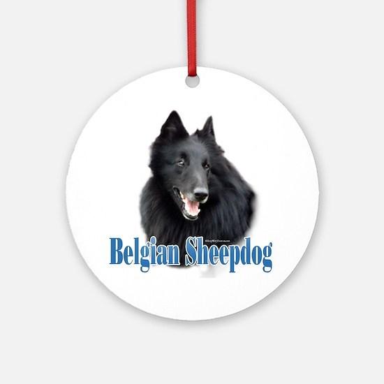 BelgianSheepName Ornament (Round)