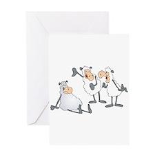 Funny Mocking Sheep Greeting Card
