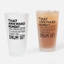 Drum Set Awkward Moment Designs Drinking Glass