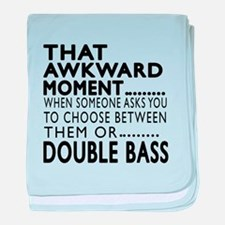 Double bass Awkward Moment Designs baby blanket