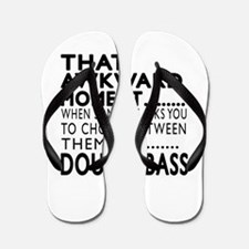 Double bass Awkward Moment Designs Flip Flops