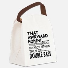 Double bass Awkward Moment Design Canvas Lunch Bag
