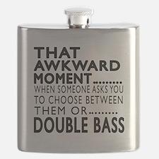 Double bass Awkward Moment Designs Flask