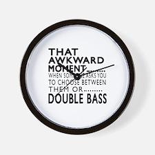 Double bass Awkward Moment Designs Wall Clock