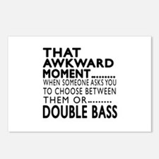 Double bass Awkward Momen Postcards (Package of 8)