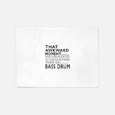 Bass drum Awkward Moment Designs 5'x7'Area Rug