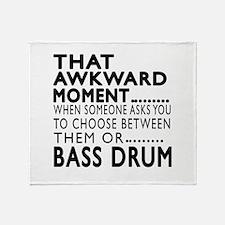 Bass drum Awkward Moment Designs Throw Blanket