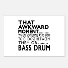 Bass drum Awkward Moment Postcards (Package of 8)