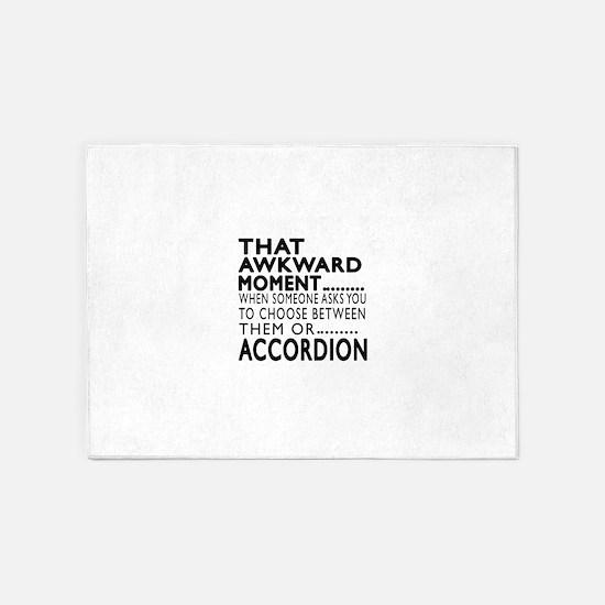Accordion Awkward Moment Designs 5'x7'Area Rug