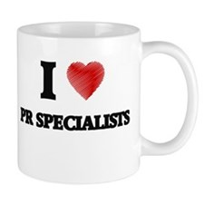 I love Pr Specialists (Heart made from words) Mugs