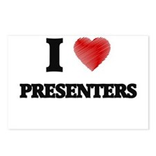 I love Presenters (Heart Postcards (Package of 8)