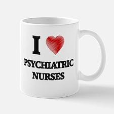 I love Psychiatric Nurses (Heart made from wo Mugs