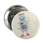 "Retro Toy Robot Art 2.25"" Button (100 pack)"