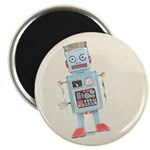 Retro Toy Robot Art Magnet