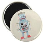 "Retro Toy Robot Art 2.25"" Magnet (10 pack)"