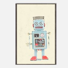 Retro Toy Robot Art Postcards (Package of 8)