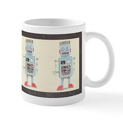 Retro Toy Robot Art Ceramic Coffee Mug