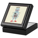 Retro Toy Robot Art Keepsake Box