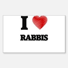 I love Rabbis (Heart made from words) Decal