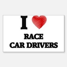 I love Race Car Drivers (Heart made from w Decal