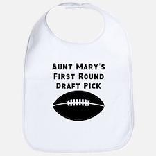 Aunts First Round Draft Pick Bib