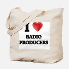 I love Radio Producers (Heart made from w Tote Bag