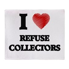 I love Refuse Collectors (Heart made Throw Blanket