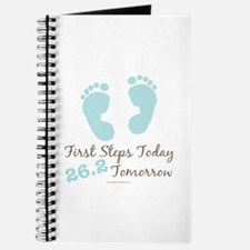 Blue Baby Footprints 26.2 Marathon Journal