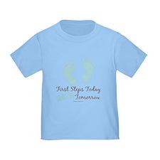 Blue Baby Footprints 26.2 Marathon T