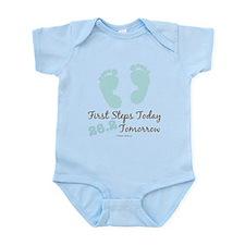 Blue Baby Footprints 26.2 Marathon Onesie