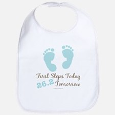Blue Baby Footprints 26.2 Marathon Bib