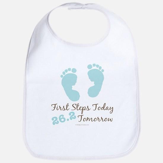 Blue Baby Footprints 26.2 Marathon Bib