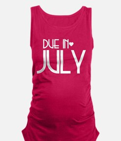Cute July Maternity Tank Top