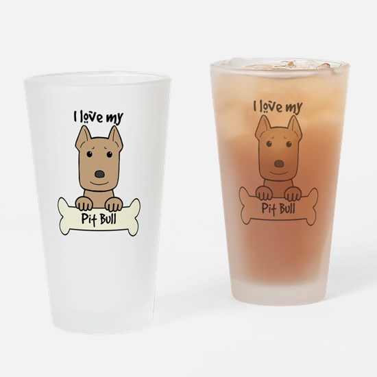 Cool Pit bull dad Drinking Glass
