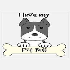 Pit bull dog Wall Art