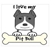Pitbull dog Wrapped Canvas Art