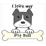Pitbull dog Posters