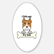 Cute Rescue pit bull christmas Sticker (Oval)