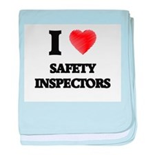 I love Safety Inspectors (Heart made baby blanket