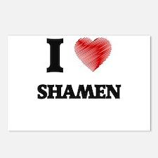 I love Shamen (Heart made Postcards (Package of 8)