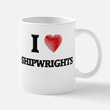 I love Shipwrights (Heart made from words) Mugs